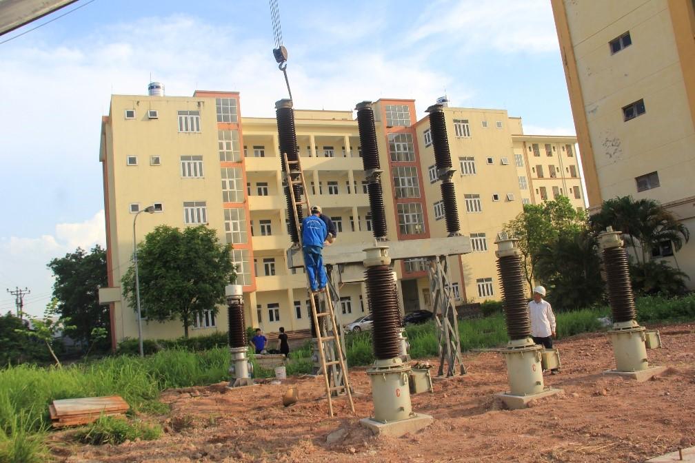 Lắp đặt trạm biến áp mẫu 110 kV